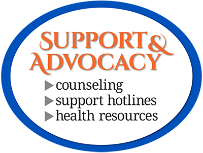 Support & Advocacy Button